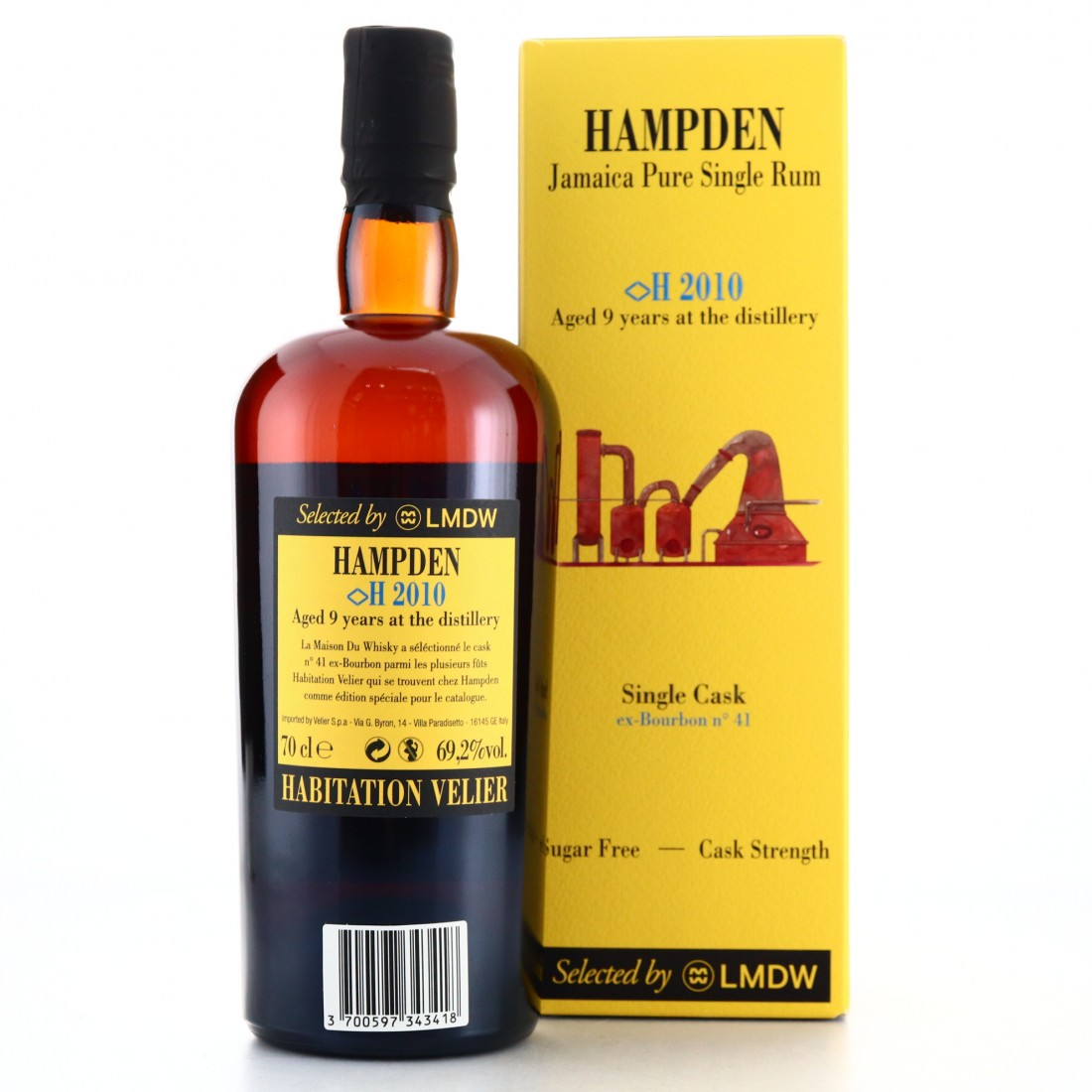 Hampden <H> 2010 Habitation Velier 9 Year Old Single Cask / LMDW