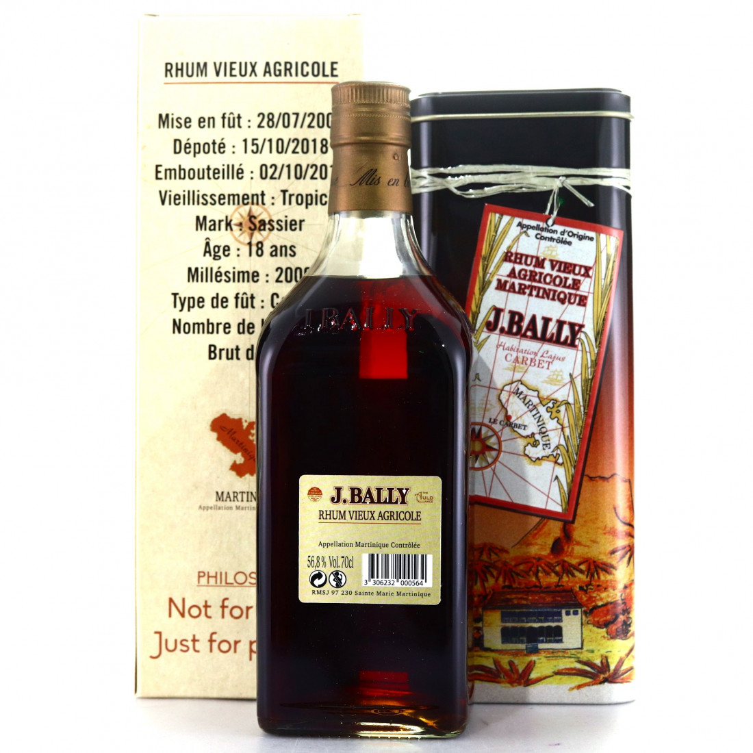 J. Bally 2000 Single Cognac Cask 18 Year Old / Corman Collins